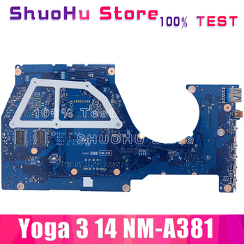 KEFU NM-A381 Para Lenovo yoga 3 14 Laptop Motherboard nm-a381 i7-5500U CPU GT940M-2G Placa base de la Prueba original