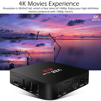 Nueva V88 Más RK3229 Quad Core 1080P 2+16GB Miracast TV Set-top Box para Android 7.1
