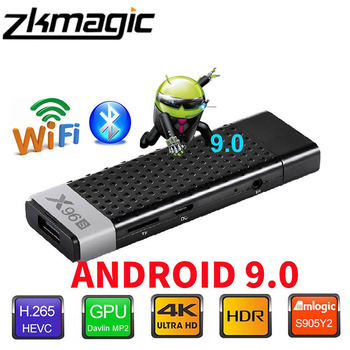 X96s Smart TV Box Android 9.0 Amlogic S905Y2 Quad Core 4K 2.4 G 5G Dual de Wifi Bluetooth 4.2 1080P Stick Android TV Set-top Box